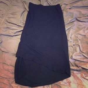 Asymmetrical Black Skirt Size Small